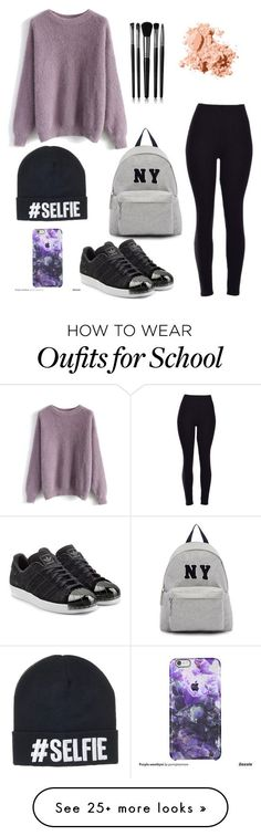 Monday school outfit by jordangirl2313 on Polyvore featuring moda, Joshuas, Chicwish, adidas Originals, Illamasqua, Bobbi Brown Cosmetics, womens clothing, women, female i woman