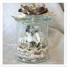 I am not sure what these are called... but I like the pictures in a jar idea. Cute gifts too=)