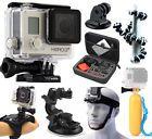 GoPro HERO3+ Plus Silver Edition Camera + Case + Head Strap + Car Mount + Tripod