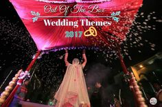 Out-Of-The-Box Wedding themes 2017 Wedding Themes, Laughter, Indian, Traditional, Weddings, Christmas Ornaments, Holiday Decor, Box, Beauty