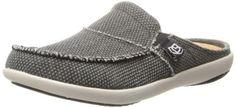 Spenco Womens Siesta Canvas Orthotic Slides - Charcoal Grey