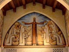 forma es vacío, vacío es forma: Alfredo Ramos Martínez - pintura. Capilla del cementerio de Santa Bárbara - 1934 (detalle)