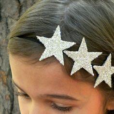 Orfeo - Silver glitter headpiece