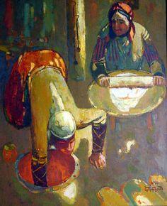 Artsrunyan Eduard (1997) Baking flat bread.
