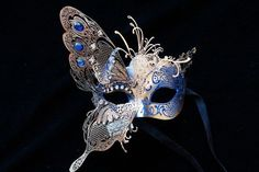 Dream Butterfly Fancy Dress Prom Gold Venetian Laser Cut Masquerade Ball Mask  #HandMade