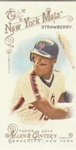 2014 Topps Allen Ginter Baseball Mini #325 Darryl Strawberry, New York Mets
