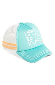 Roxy 'Dig This - Life's a Beach' Trucker Hat available at #Nordstrom