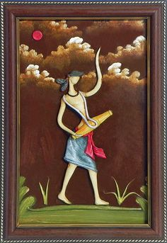 Vaishnav Drummer - Wall Hanging (Poly Resin on Hardboard))
