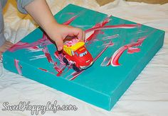 Good Idea: Painting with Toy Cars