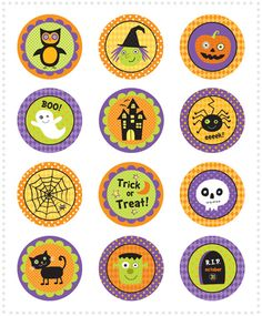 My Owl Barn: Freebie: Halloween Cupcake Toppers