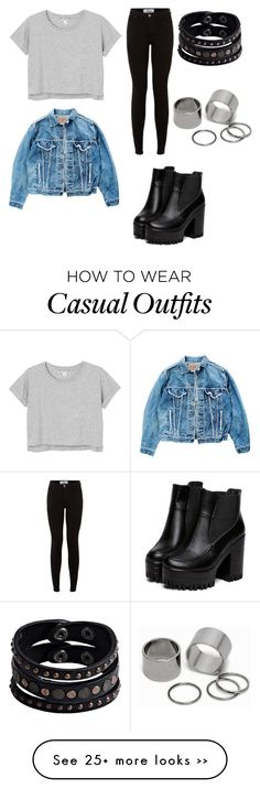 """""""Casual wear."""" by olena-jayne-pange on Polyvore featuring Levi's, Monki, Replay and Pieces"""