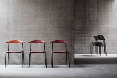 Wegner's stackable chair by Carl Hansen & Son. Day one: 2014 Milan Furniture Fair Milan Furniture, Furniture Styles, Unique Furniture, Contemporary Furniture, Furniture Design, Side Chairs, Dining Chairs, Scandinavia Design, Stackable Chairs