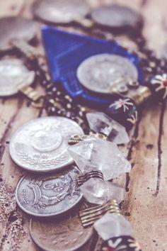 Blue Talhakimt with Herkimer Diamonds and Kuchi by FuriousFancies