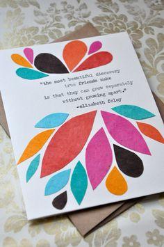 Birthday Card Handmade Greeting Card Friendship by meganjewel