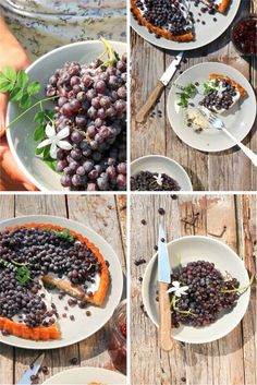 Tart with Grapes