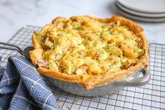 Hartige taart met witlof en aardappel
