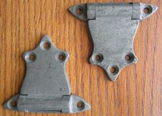 Pair of Vintage Ice Box Hinges by HunkoFunko on Etsy, $10.00