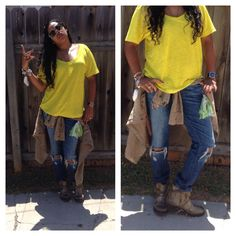 Outfit of the day! Mellow yello