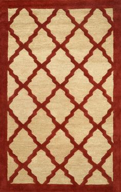 Rugs USA Tuscan Bordered Lattice VS127 Maroon Rug