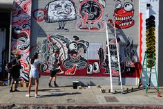 Sheryo and The Yok working on their new solo-duo show on November 8th for Superchief Gallery in downtown L.A.
