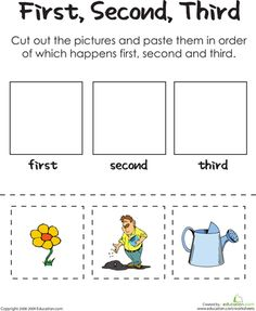 Worksheets: First, Second, Third: A Gardener's Thumb