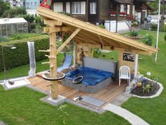 find this pin and more on back yard hot tub designs