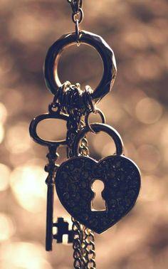Lock and key on keyring