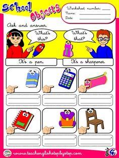 School Objects - Worksheet 2