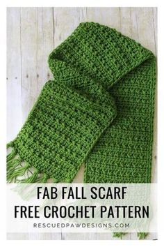 Fabulously Fall Fringe Scarf – Free Crochet Pattern - Rescued Paw Designs