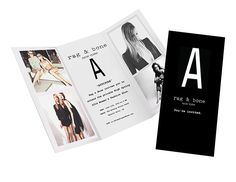 Fashion Show Event by Kelsey Norris, via Behance