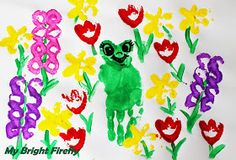 My Bright Firefly: Spring Flowers and Frogs Painting and Stamping for Kids