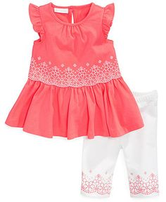 First Impressions Baby Girls' 2-Piece Embellished Tunic & Leggings Set - Kids Baby Girl (0-24 months) - Macy's