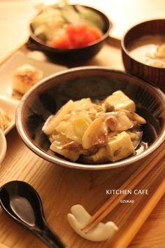 豚肉と豆腐のとろっと煮で夜ご飯。 |【キッチンカフェ uzukaji 】