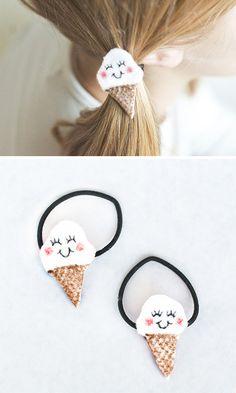 DIY | Felt Ice Cream Hair Bands | willowday