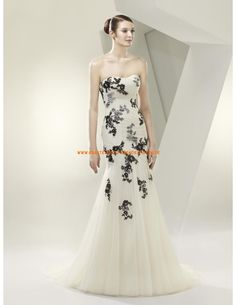 Unique Elegante Brautkleider 2013 aus Chiffon mit Applikation