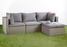 Outdoor Lounge, Outdoor Sofas, Outdoor Furniture, Outdoor Decor, Wicker Ottoman, Modular Sofa, 3 Seater Sofa, Relax, Cushions