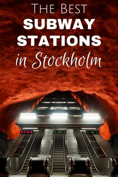 Stockholm's subway system is basically one big long art exhibit. Check out this post for the best subway stations in Stockholm, along with how to find them. Denmark Travel, Norway Travel, Tivoli Park, Norway In A Nutshell, Travel Around Europe, Tromso, Trondheim, Lofoten, Travel Guides
