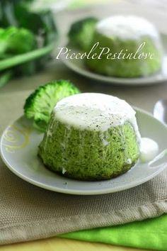 Tortini Morbidi ai Broccoli con Besciamella, Robiola e Parmigiano