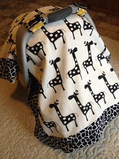 Giraffe++carseat+cover.+Universal+fit.+by+joeellztoo+on+Etsy,+$38.00