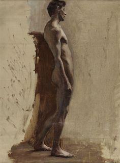 Male Nude Leaning (1896), Lucy Hayward-Barker