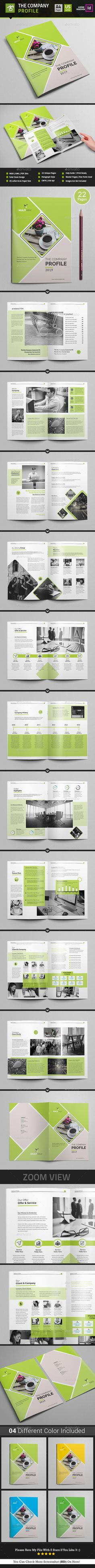 company profile brochures pack 3 in 1 pinterest company
