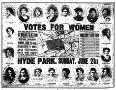 """21st June 1908 - """"Votes For Women"""" : Hyde Park Rally 