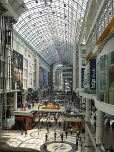 Eaton Center Shopping Mall, Toronto Diy Projects To Try, Shopping Mall, Places Ive Been, Toronto, Around The Worlds, Street View, In This Moment, Spaces, Shopping Center