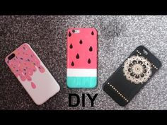 DIY: Colourful and easy summer phone case designs (Watermelon, Ice cream, Henna design) - YouTube