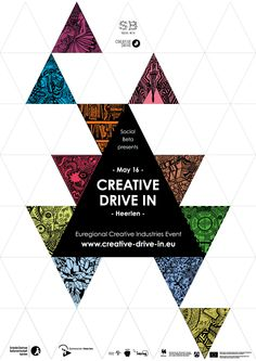 Creative drive in announcement poster