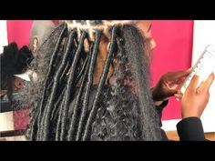 Everything you need to know about faux locs hairstyles & goddess locs including the installation process, methods used, crotchet faux locs and maintenance. Faux Locs Hairstyles, African Braids Hairstyles, Twist Hairstyles, Hairstyles Videos, Faux Locs Marley Hair, Faux Dreads, Curly Faux Locs, Cuban Twist Hair, Faux Locs Styles