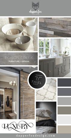 Poison Creek Furniture and Design in Park City Utah- Logo and Branding Design by Dapper Fox Design - Mood Board    //   Website Design - Branding - Logo Design - Brand - Entrepreneur Blog and Resource