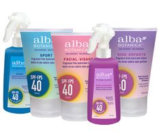 Alba Sun Care - group shot