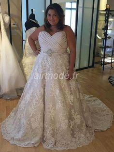 fournitures de airmode.frclassique & intemporel église été robe sans manches salle la robe de mariage de mon coeur Robe de Mariée Grande Taille