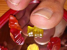 mirrored toes and gummybears by Netsrot1971.deviantart.com on @DeviantArt